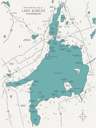 Image result for lake simcoe map