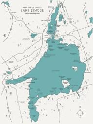 Image result for lake simcoe map