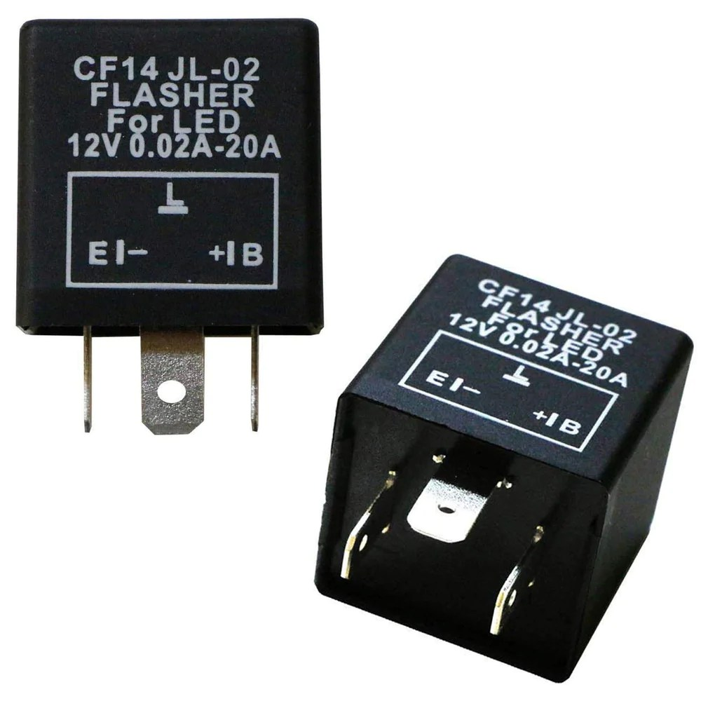 3 pin cf14 ep35 electronic led flasher relay for led related turn signal bulbs hyper [ 1000 x 1000 Pixel ]
