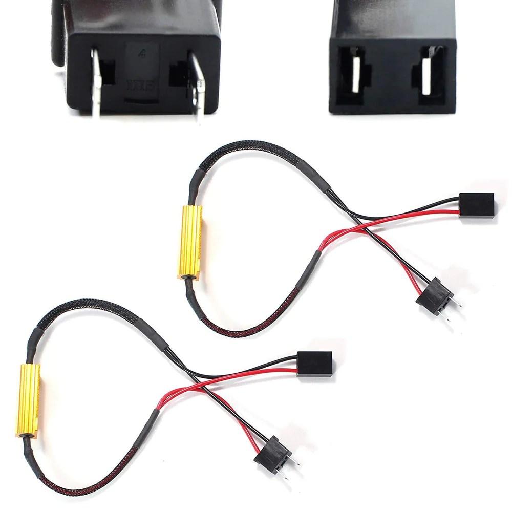 plug n play error free decoder wiring kit for h7 led bulbs on fog [ 1000 x 1000 Pixel ]