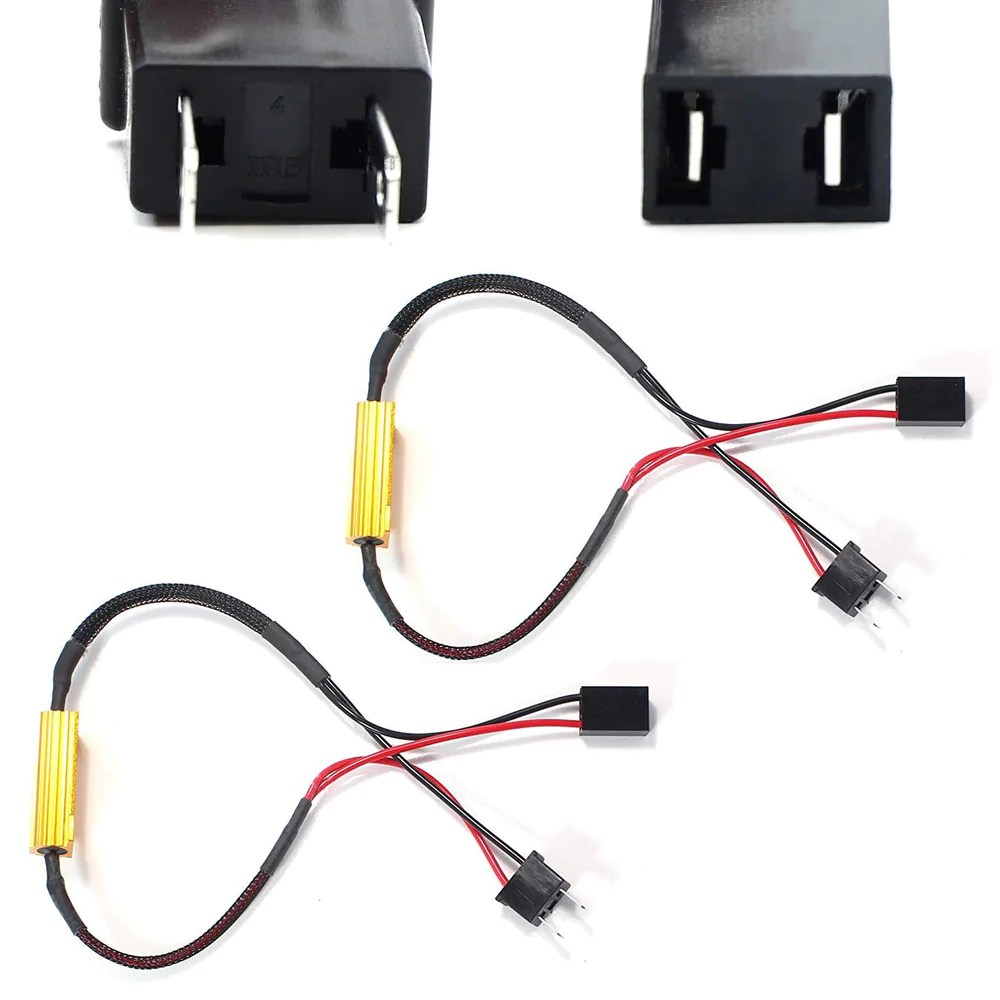 small resolution of plug n play error free decoder wiring kit for h7 led bulbs on fog