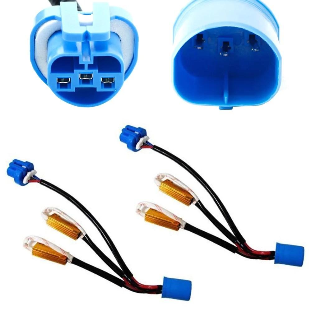 error free 9004 9007 wiring harness adapters w load resistors for xenon headlight kit [ 1000 x 1000 Pixel ]