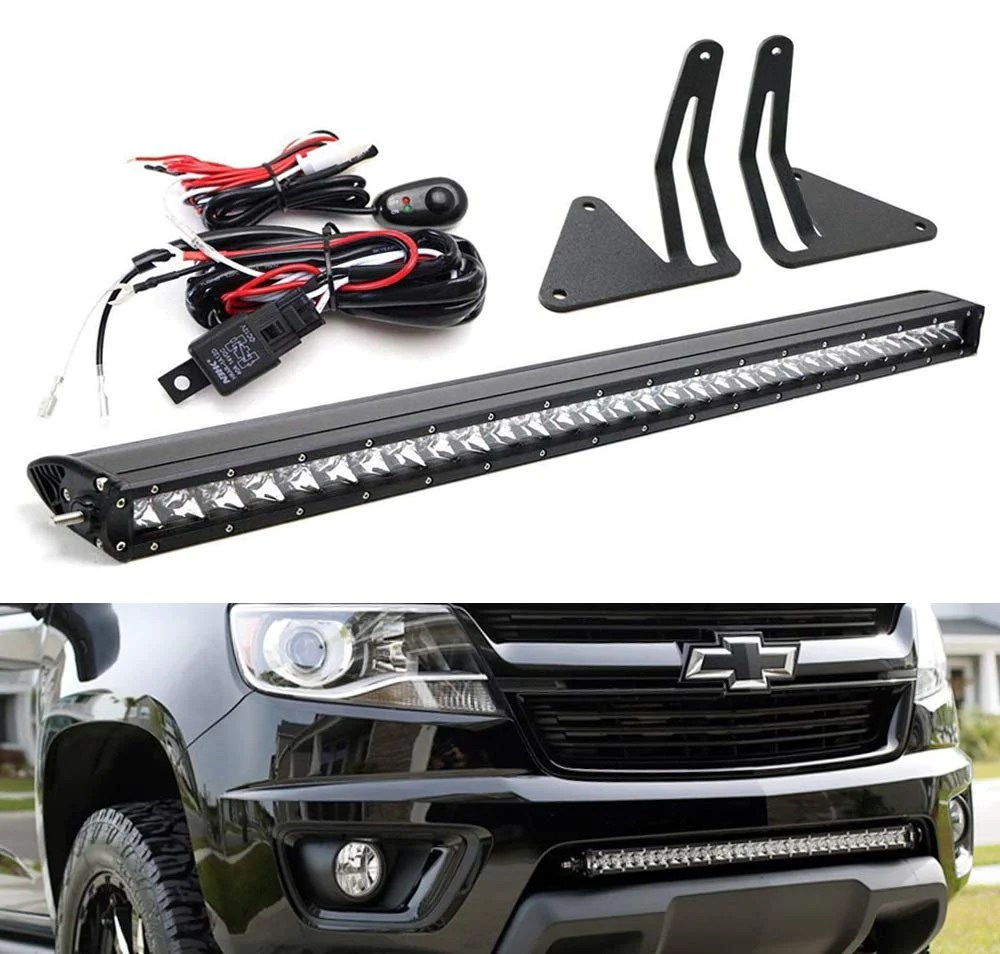 hight resolution of lower grille mount 30 led light bar kit for 2015 up chevrolet colorado or
