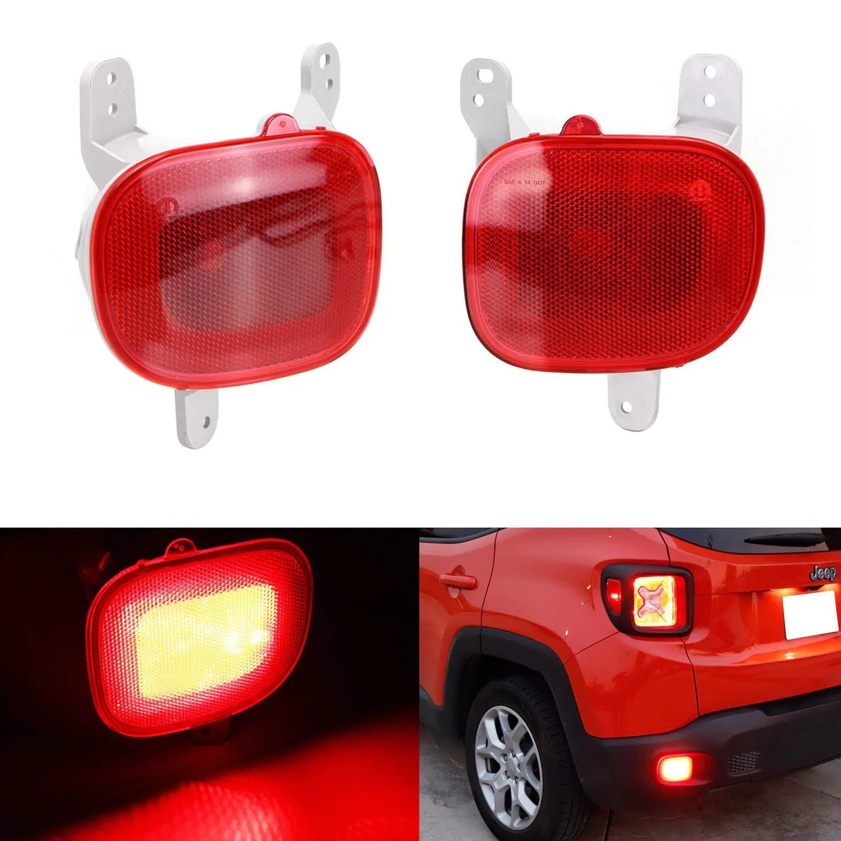 small resolution of 15 up jeep renegade kl complete led rear fog brake light kit ijdmtoy com