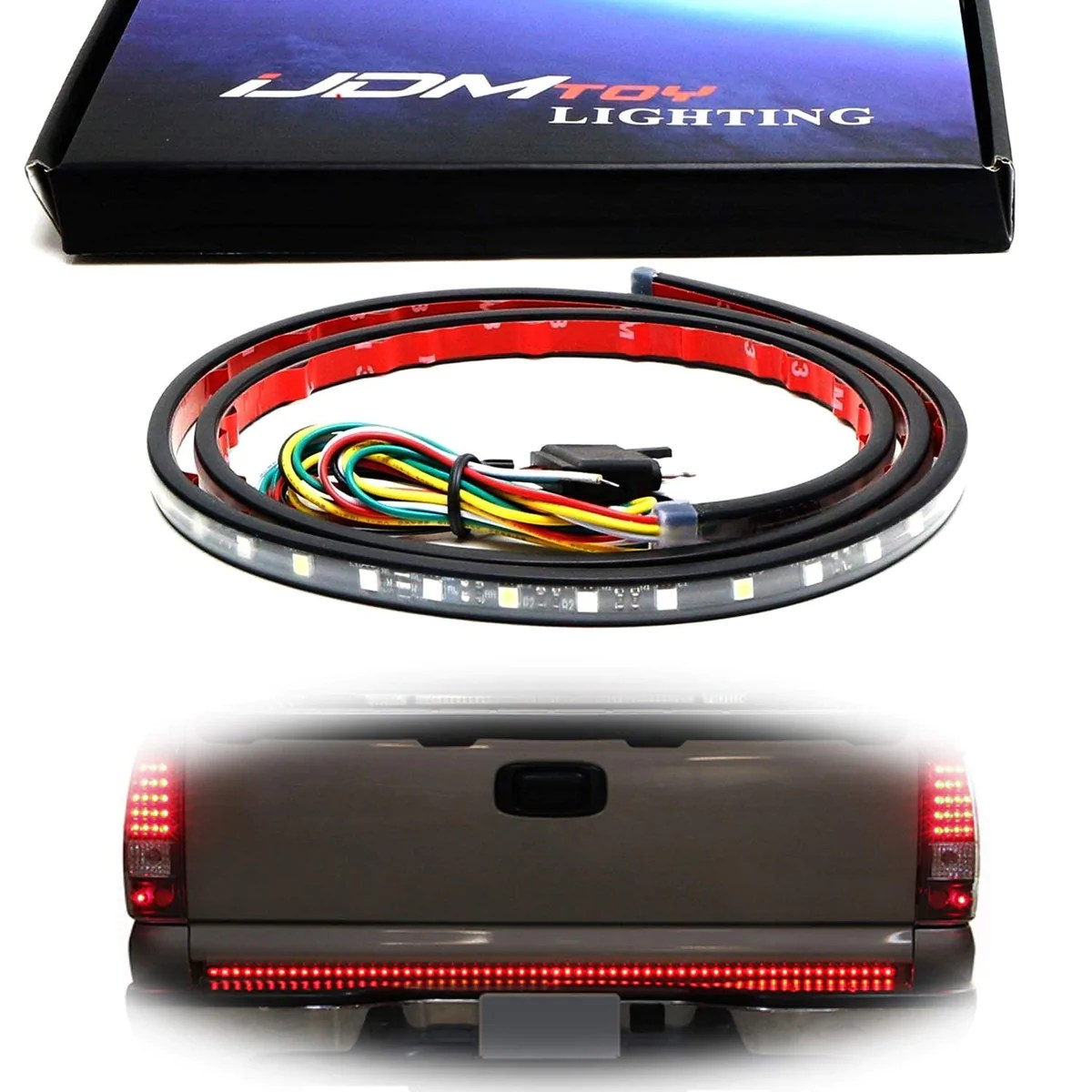 60 trunk tailgate tail gate led light bar backup reverse brake ijdmtoy com [ 1200 x 1200 Pixel ]