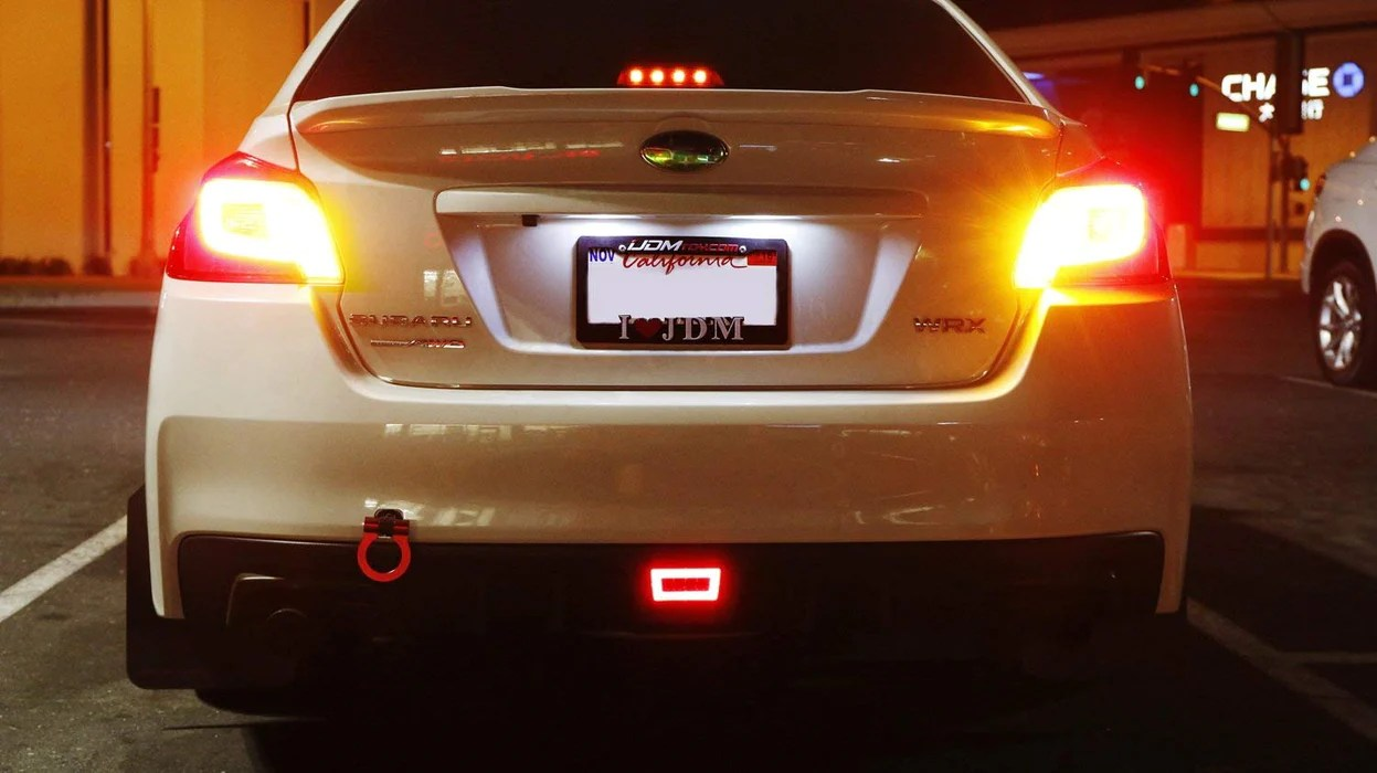 medium resolution of red or smoked lens 3 in 1 led rear fog light assembly kit