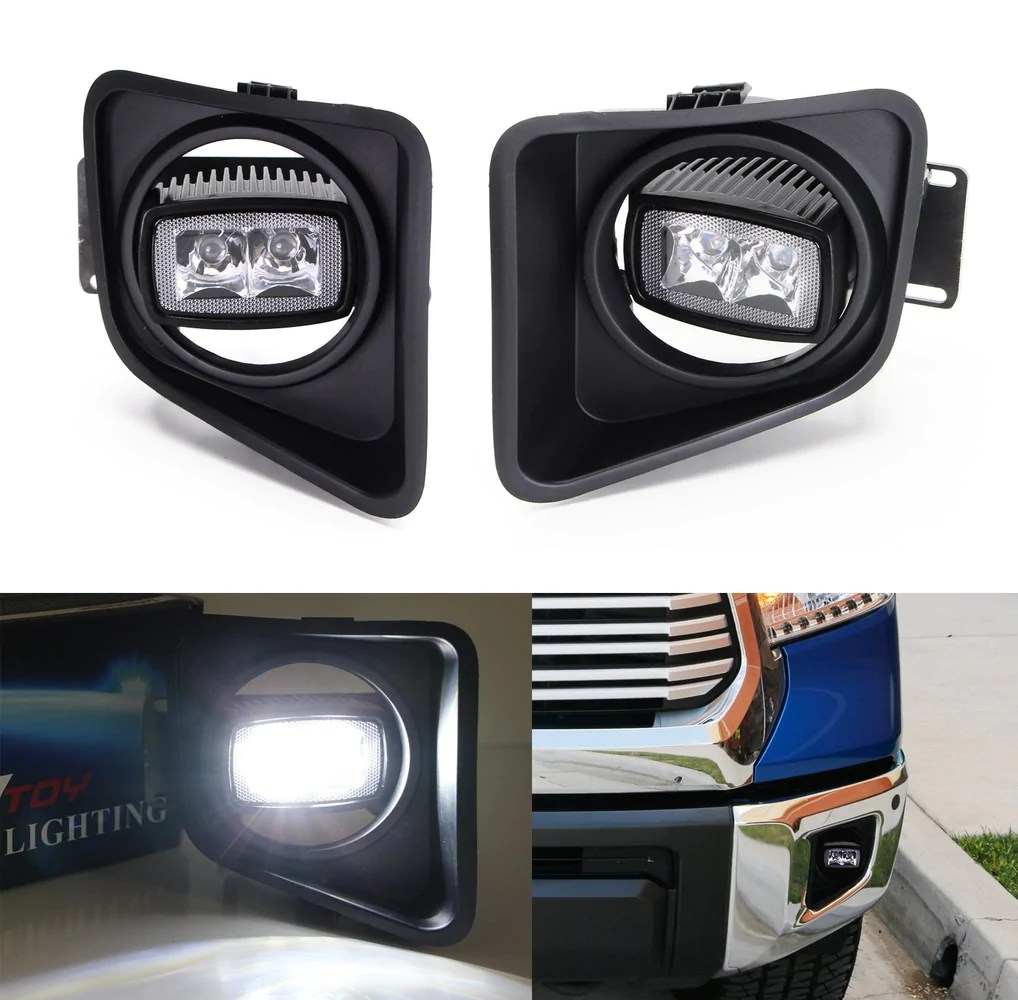 sr mini led fog driving lamp kit for 2014 up toyota tundra  [ 1018 x 1000 Pixel ]