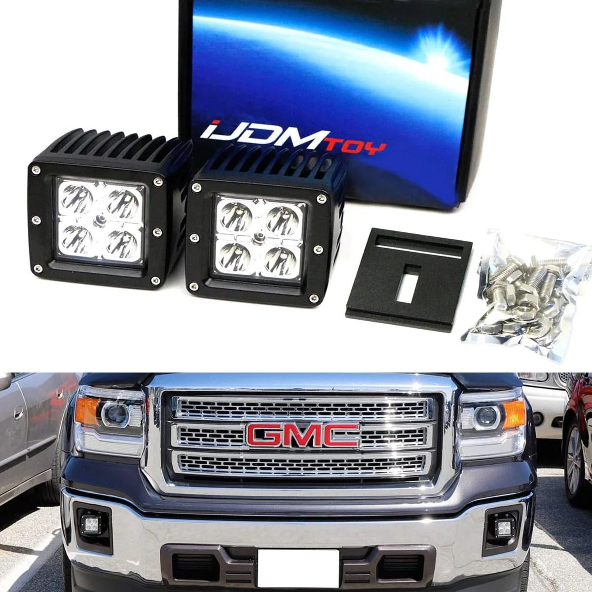 hight resolution of 14 15 gmc sierra 1500 15 18 2500 3500 hd led pod fog light kit ijdmtoy com