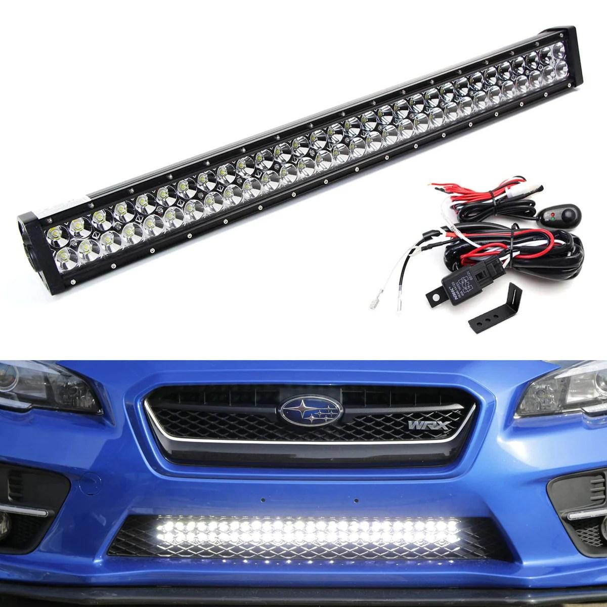 small resolution of 2015 2019 subaru wrx sti lower bumper 30 led light bar kit ijdmtoy com