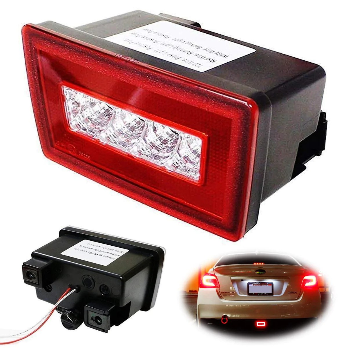 hight resolution of red or smoked lens 3 in 1 led rear fog light assembly kit tail brake backup reverse light for 2011 up subaru impreza wrx sti or vx crosstrek with wire