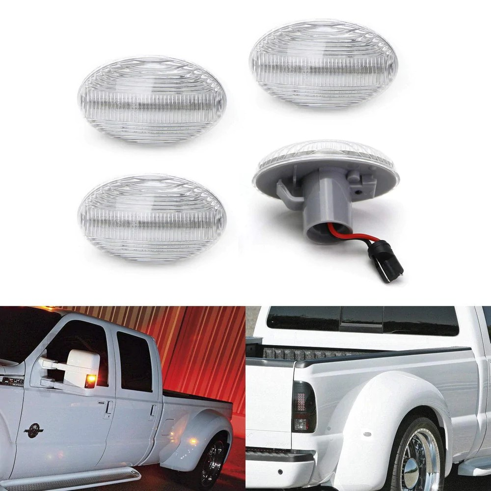 hight resolution of amber red full led trunk bed marker lights set for 1999 2010 ford f350