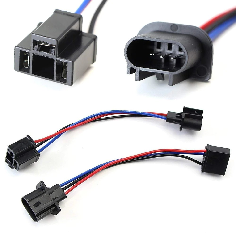 h13 9008 to h4 9003 pigtail wire wiring harness adapters for h13 h4 headlight conversion [ 1000 x 1000 Pixel ]