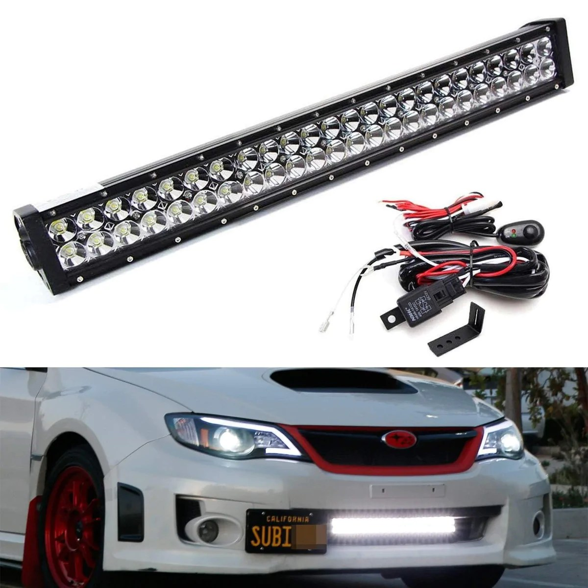 small resolution of 11 14 subaru impreza wrx sti lower bumper led light bar kit ijdmtoy com