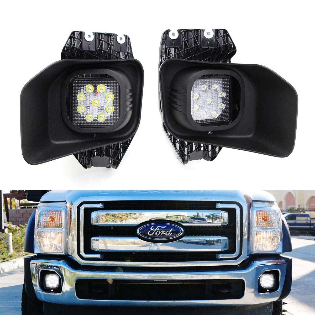 11 16 ford f250 f350 f450 superduty led fog driving light kit ijdmtoy com [ 1200 x 1200 Pixel ]