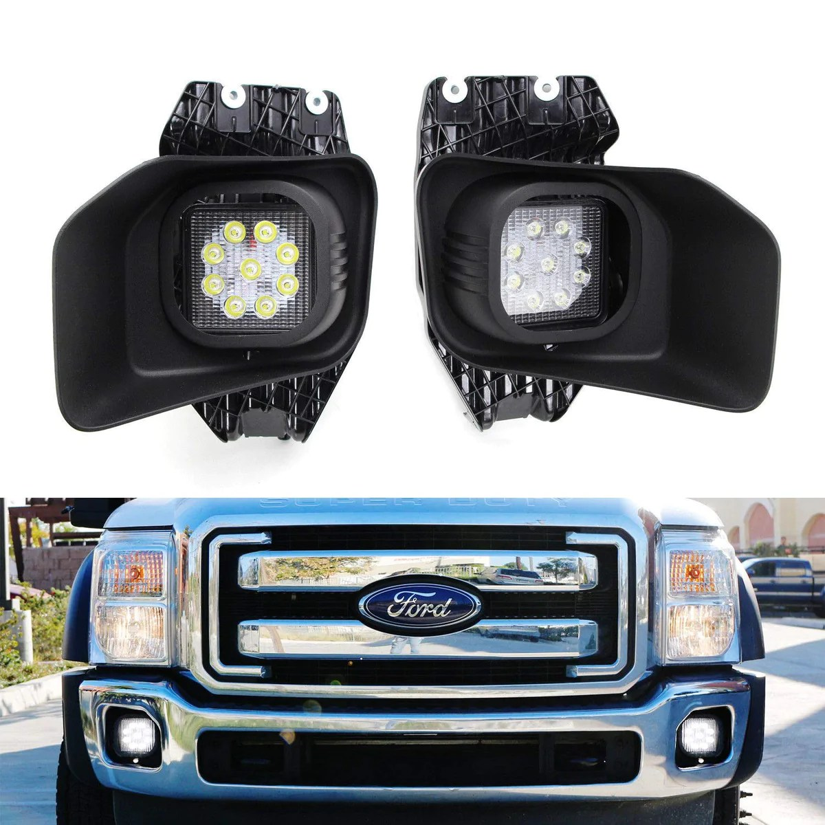 hight resolution of 11 16 ford f250 f350 f450 superduty led fog driving light kit ijdmtoy com