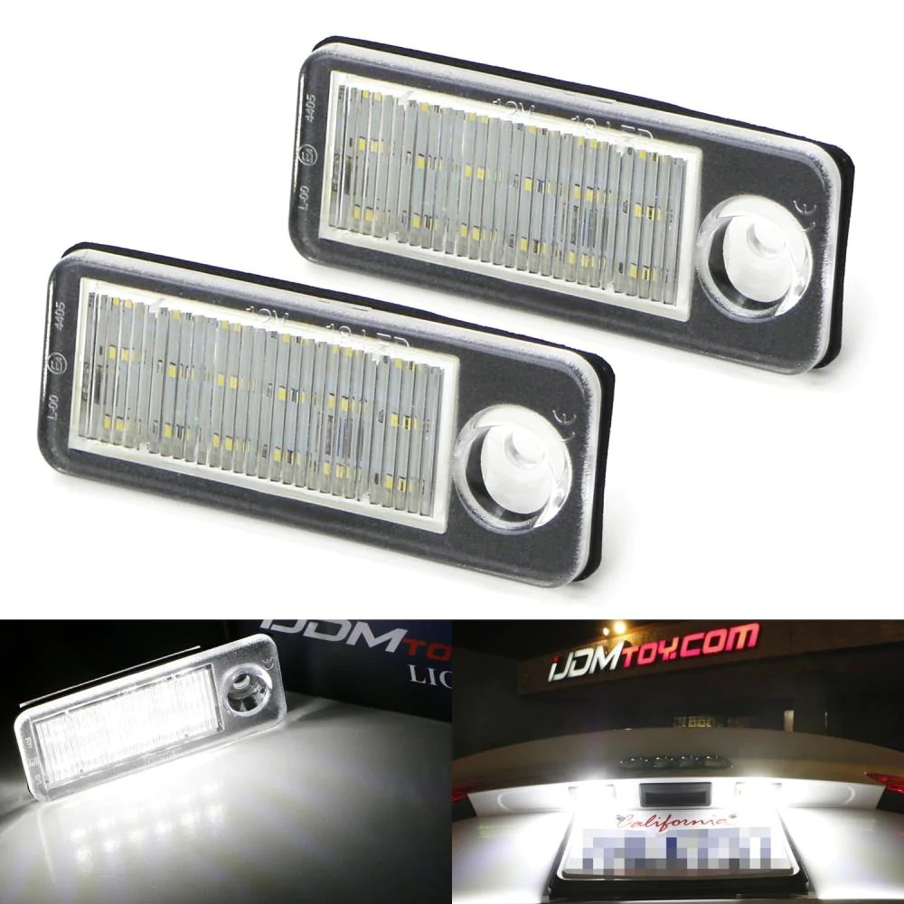 oem fit 3w full led license plate light kit for 1998 2005 audi a6 [ 1000 x 1000 Pixel ]