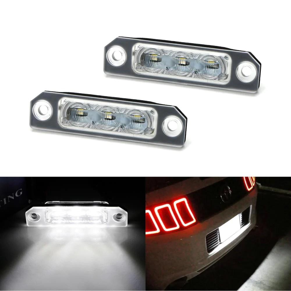 oem fit 3w full led license plate light kit for 2011 14 ford mustang [ 1000 x 1000 Pixel ]