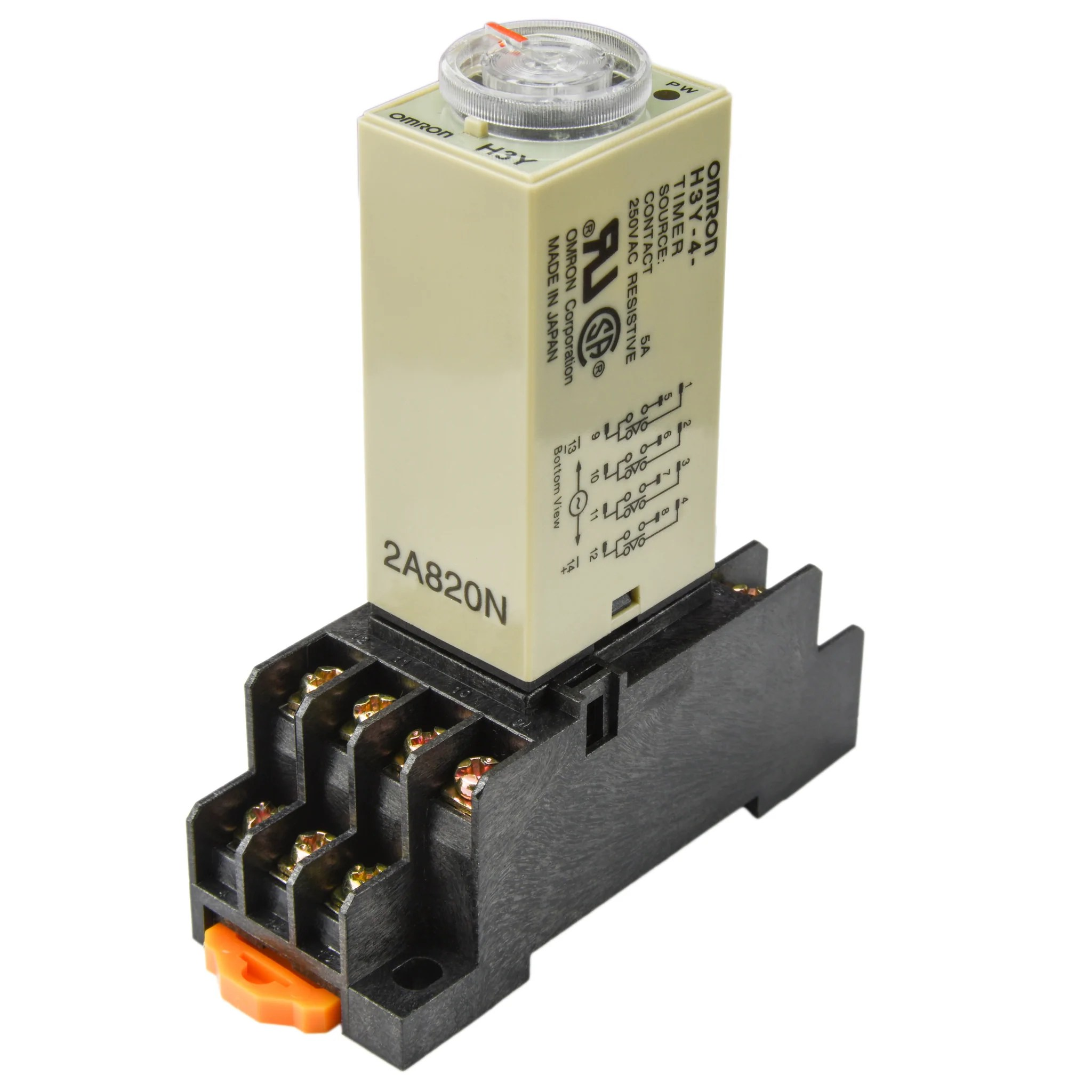 medium resolution of  1 to 10 pcs omron solid state timer h3y 4 12v a