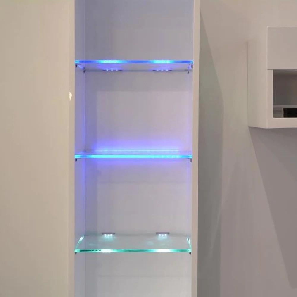 linija įtėviai patinas glass shelves with led lights