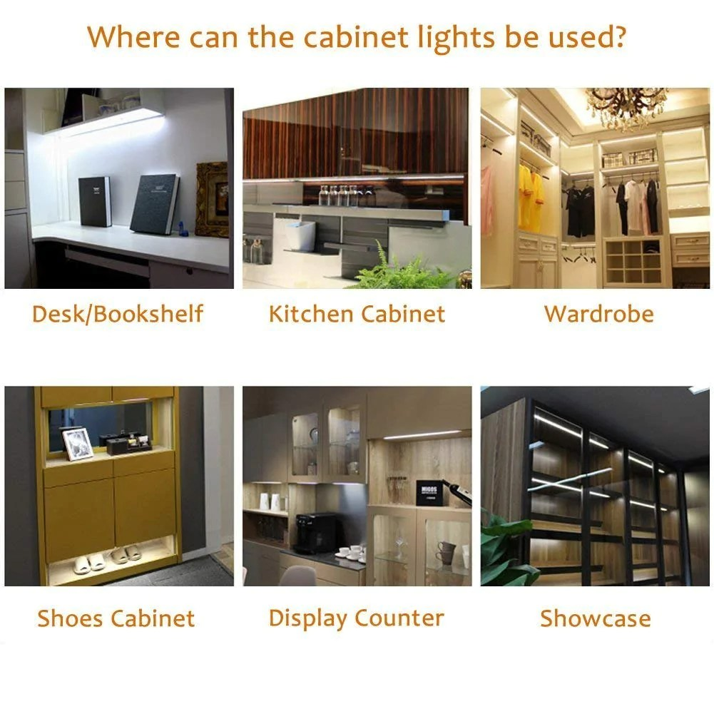 aiboo led under cabinet puck lights kit with touch dimming switch for ambiance atmosphere night lighting 8 lights