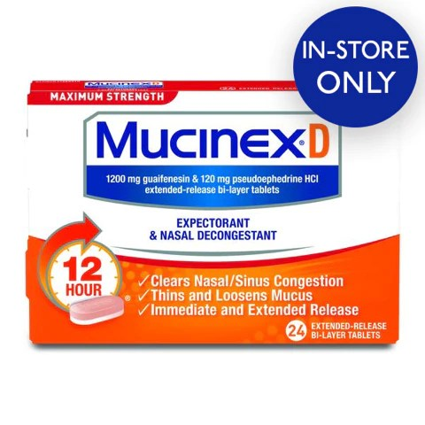Mucinex® D Maximum Strength Expectorant and Nasal ...