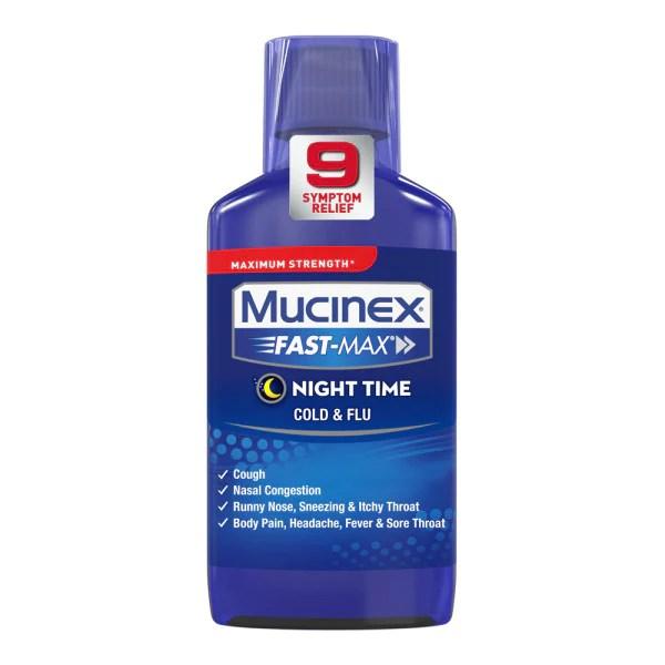 Maximum Strength Mucinex® Fast-Max® Night Time Cold & Flu ...