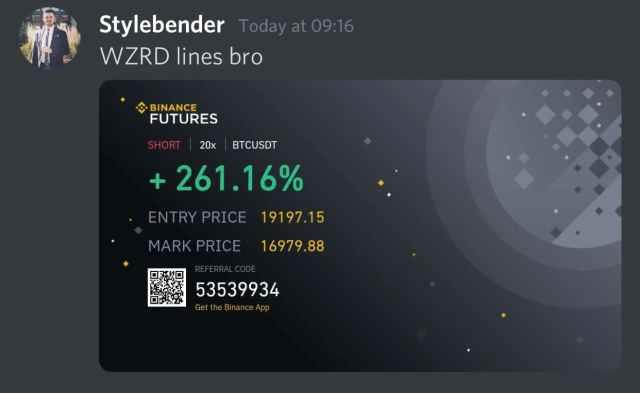 WZRD Success Screenshot