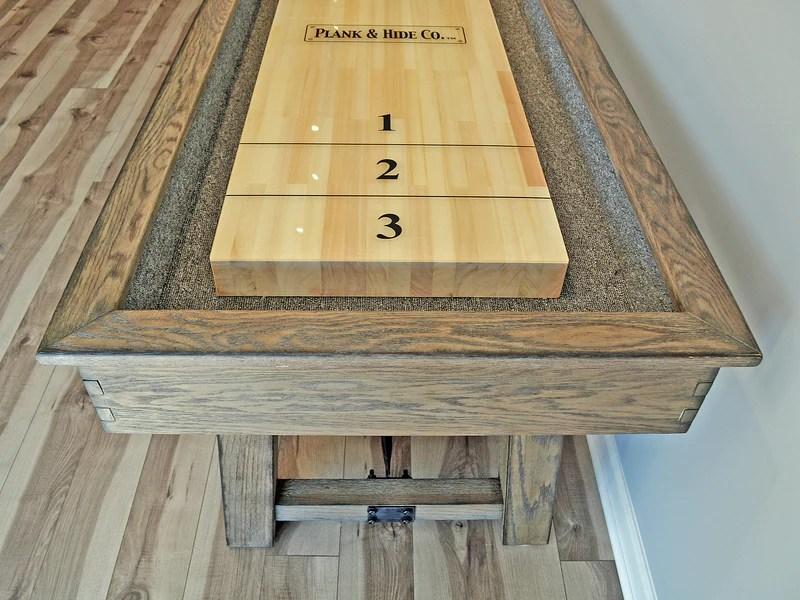 Plank and Hide Isaac Shuffleboard Table  Robbies Billiards