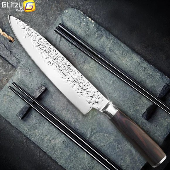 professional kitchen knives how to replace cabinets knife 8 inch chef japanese 7cr17 440c high carbon stainless steel meat santoku