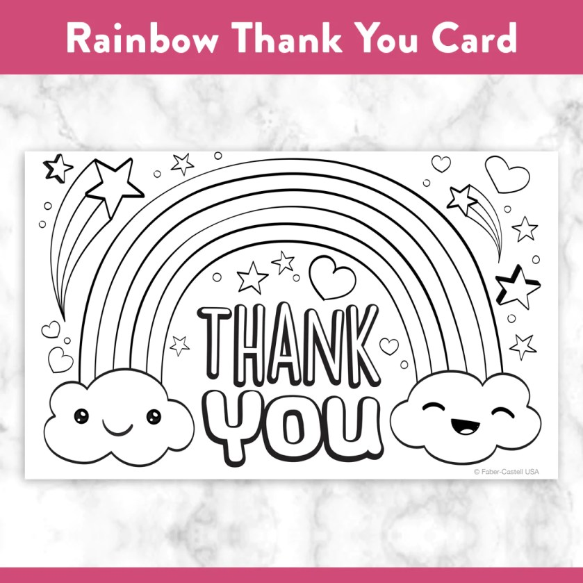 printable coloring thank you cards – fabercastell usa