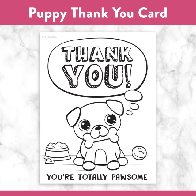 Coloring Pages to Say Thank You – Faber-Castell USA