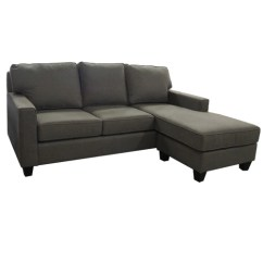 Sofa Bed And Chaise Gray Sectional Microfiber Garrison Queen W Shelter Furniture