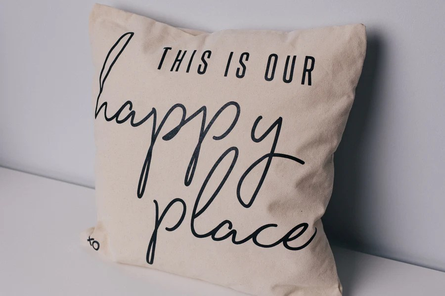 this is our happy place pillow case xo marriage