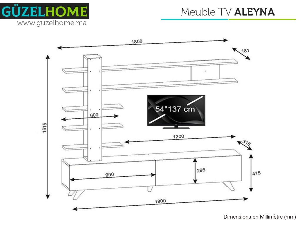 meuble tv aleyna blanc