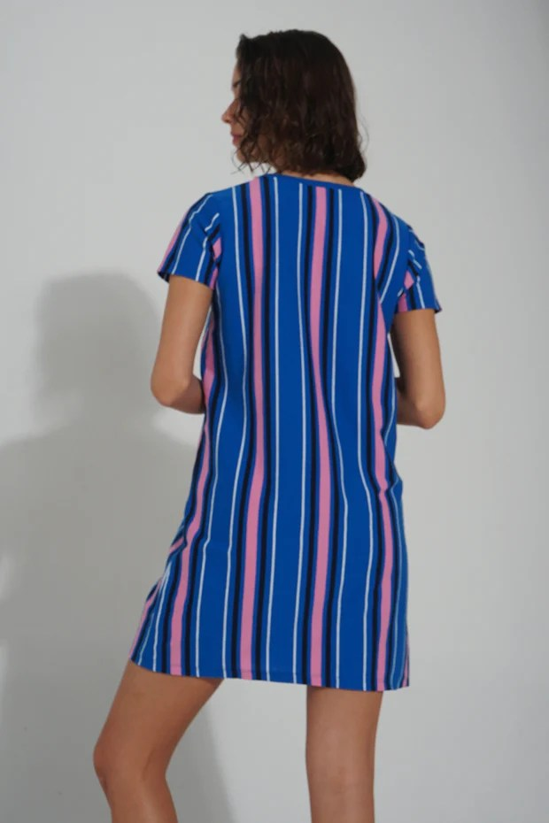 multi color tagged dress