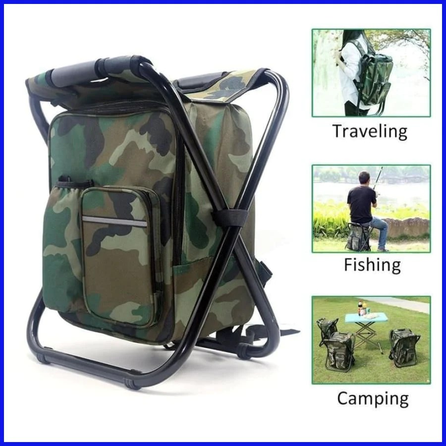 Folding Chair Backpack Folding Chair With Cooler Backpack