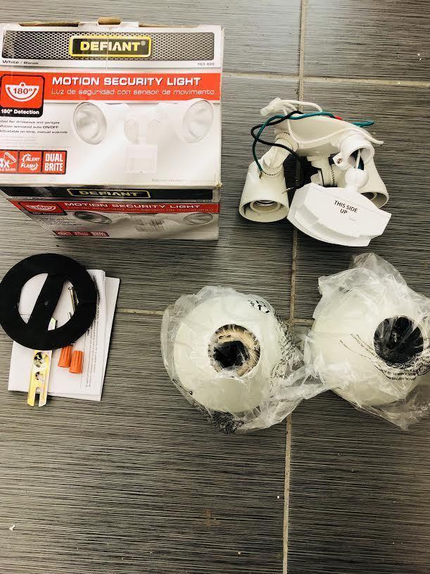 defiant 180 degree white motion sensing outdoor security light df 5416 duso deals
