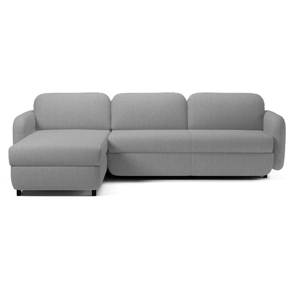 moods 3 seater leather sofa bed brown and cream bolia fluffy w chaise longue by hertel klarhoefer danish design store