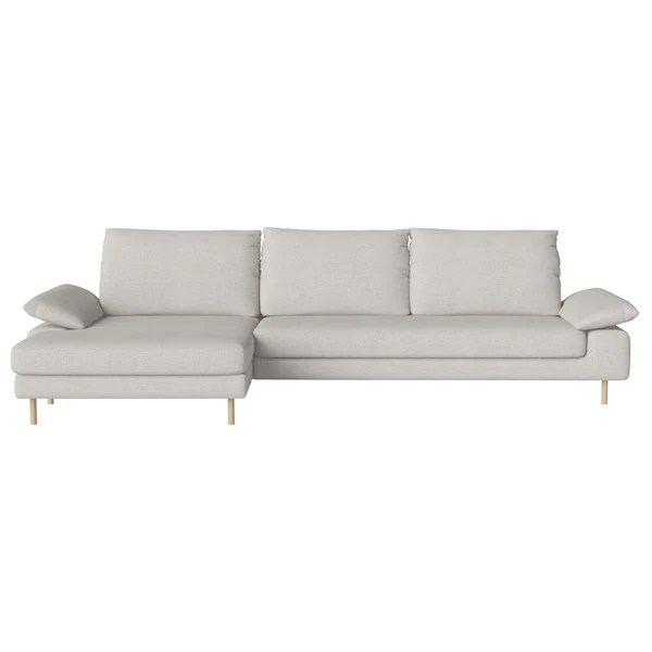sofa w chaise leather upholstery repair bolia nest 4 seater longue by hertel klarhoefer