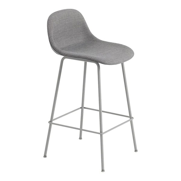 upholstered counter height chairs leather executive office canada fiber bar stool w backrest tube base more images