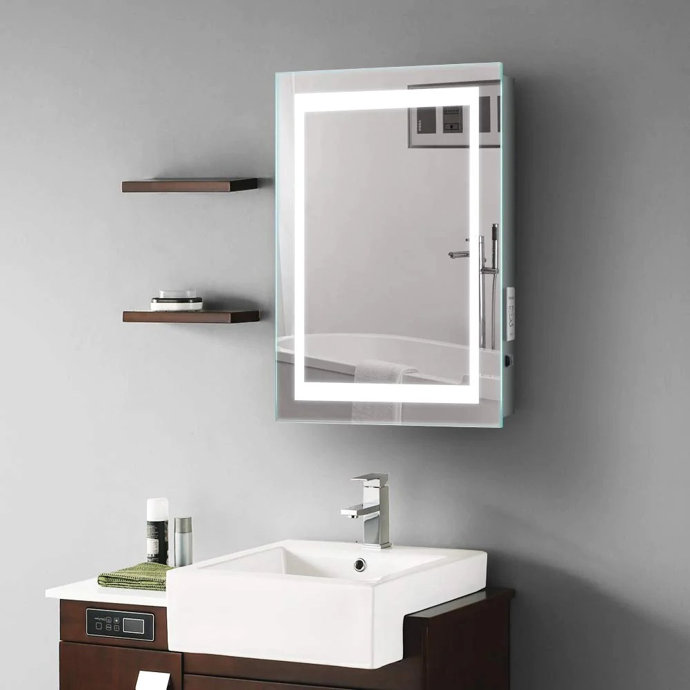 Illuminated Bathroom Mirror Quavikey 500 X 700mm Led Illuminated Bathroom Mirror With Shaver Socket