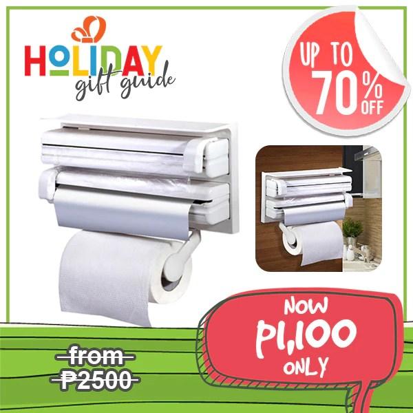 3 in 1 kitchen elegant cabinets triple paper dispenser holder holiday gift guide ph