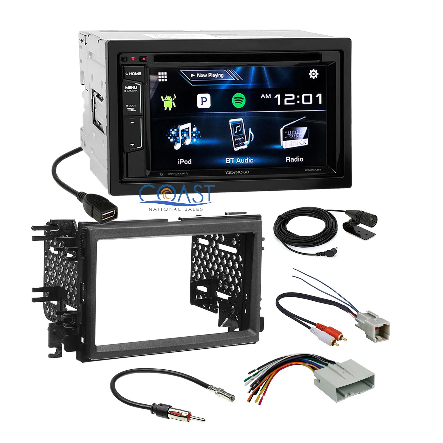 medium resolution of load image into gallery viewer kenwood dvd sirius stereo dash kit amp interface for 04