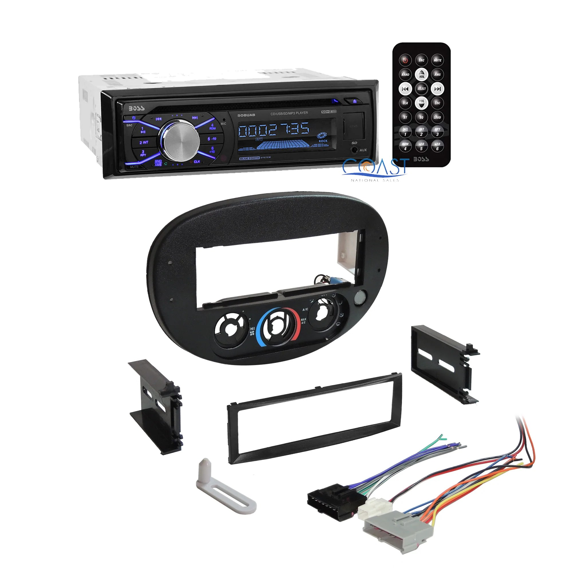 load image into gallery viewer boss car radio stereo install dash kit bezel harness for  [ 2048 x 2048 Pixel ]