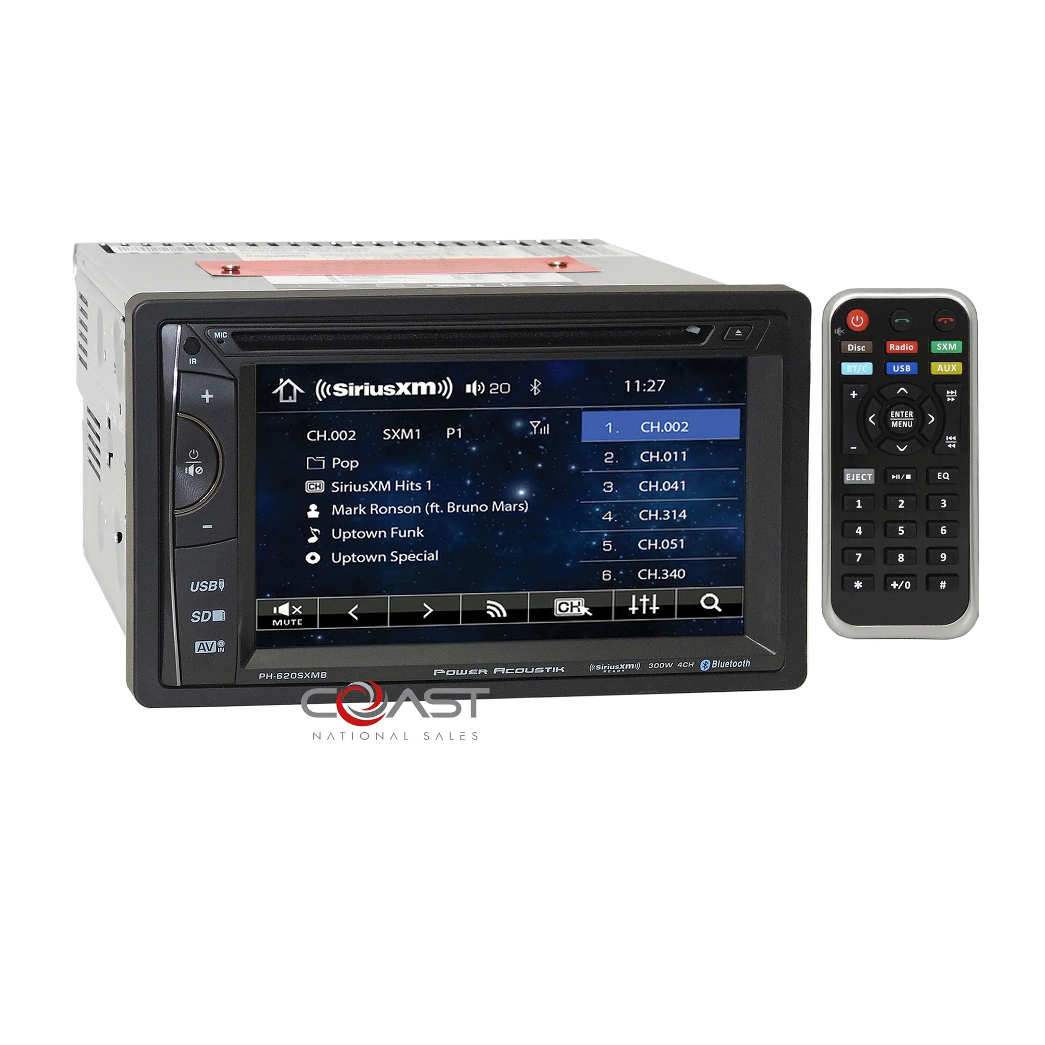 medium resolution of  load image into gallery viewer power acoustik dvd sirius gps stereo dash kit swc amp