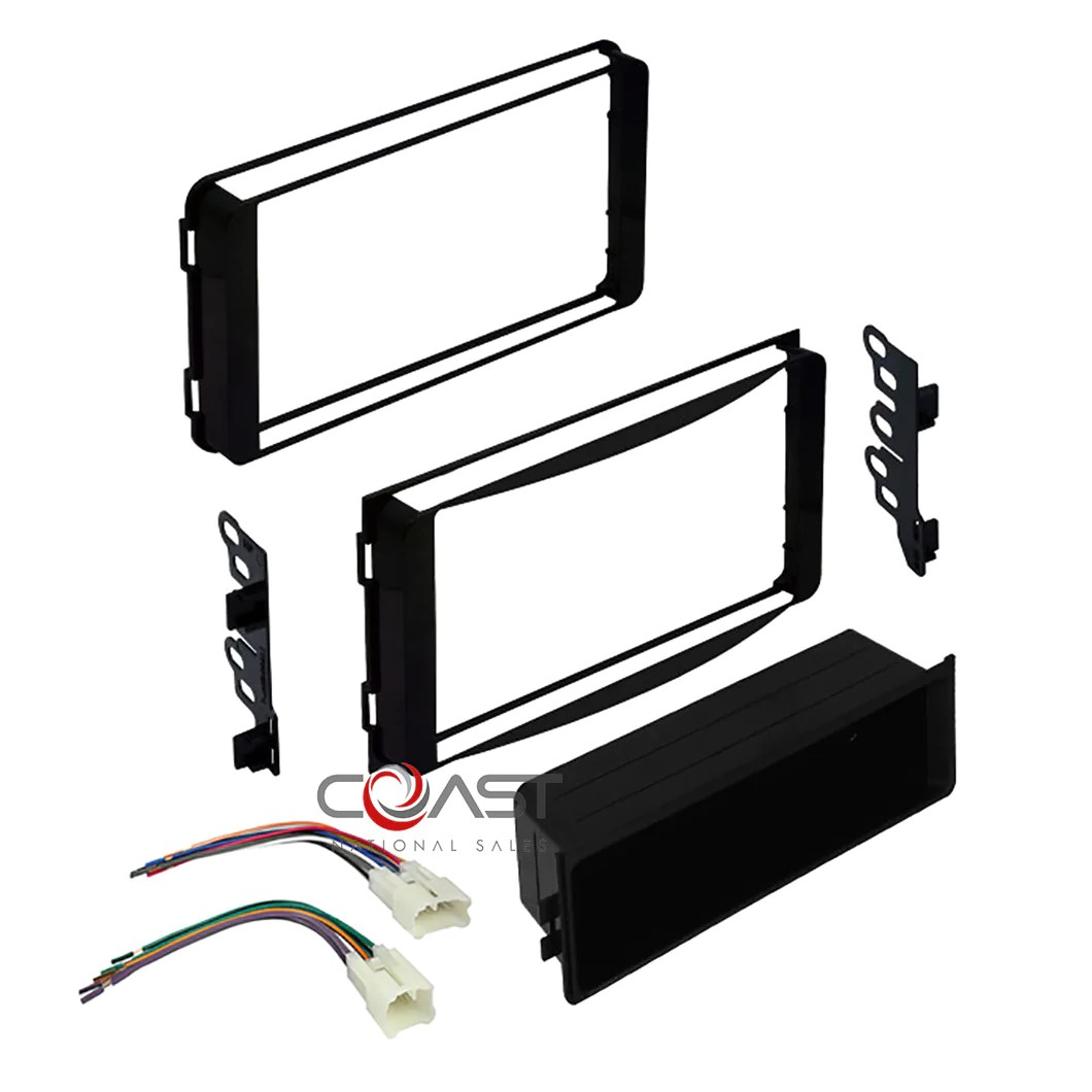 hight resolution of car stereo single double dash kit wire harness for 2000 17 toyota scion subaru