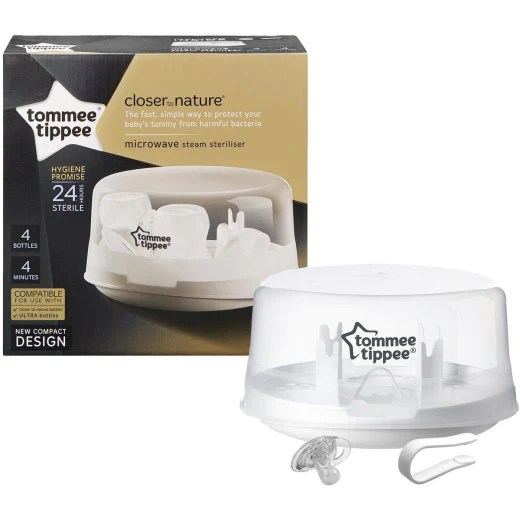 tommee tippee micro steam microwave baby bottle sterilizer