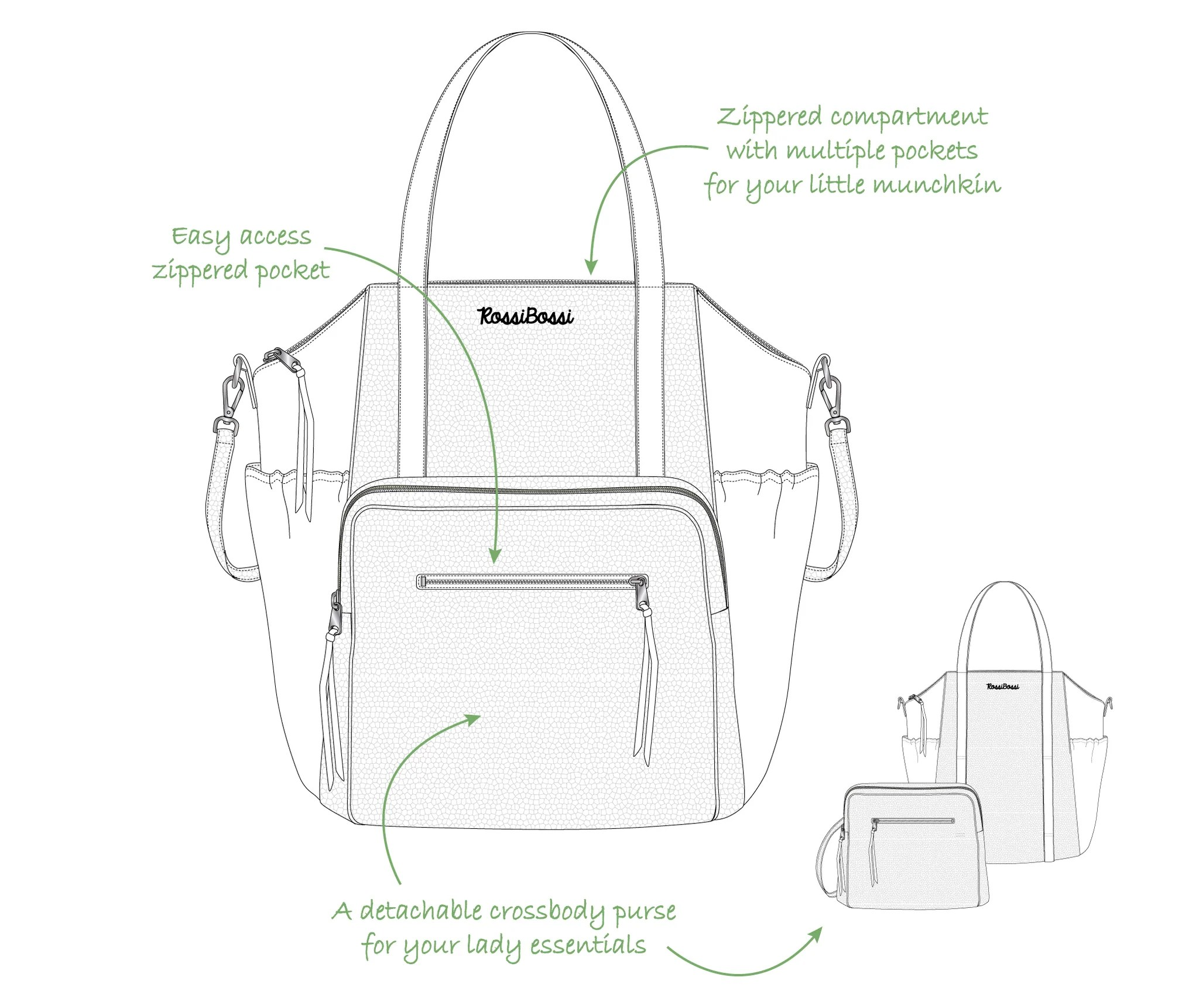 medium resolution of  load image into gallery viewer olivia diaper bag latte