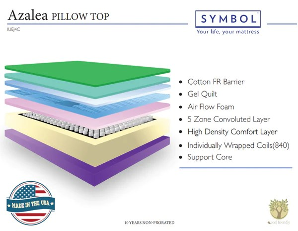 azalea pillow top by symbol