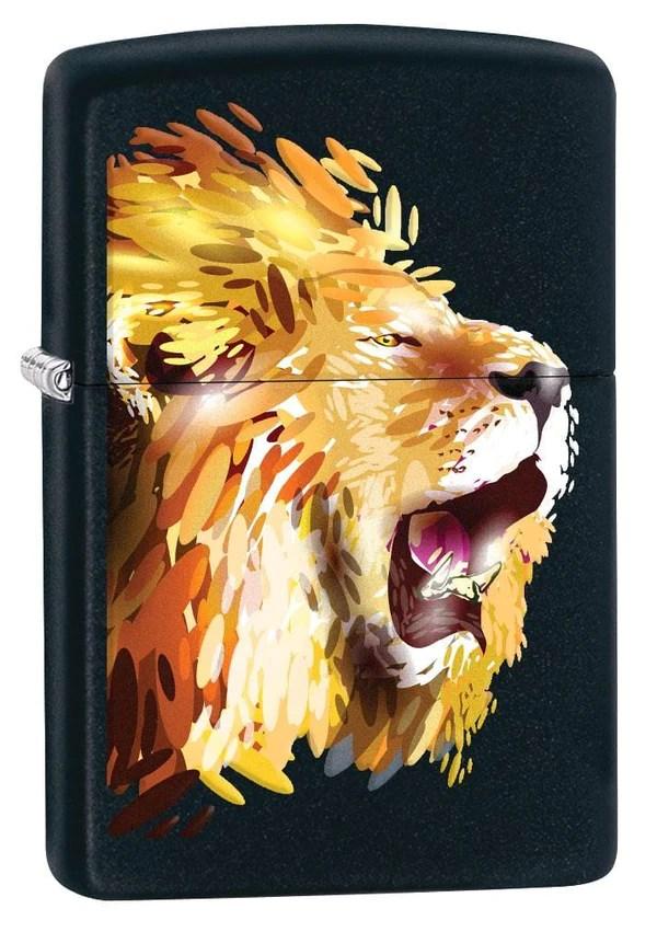 zippo lighter fierce lion